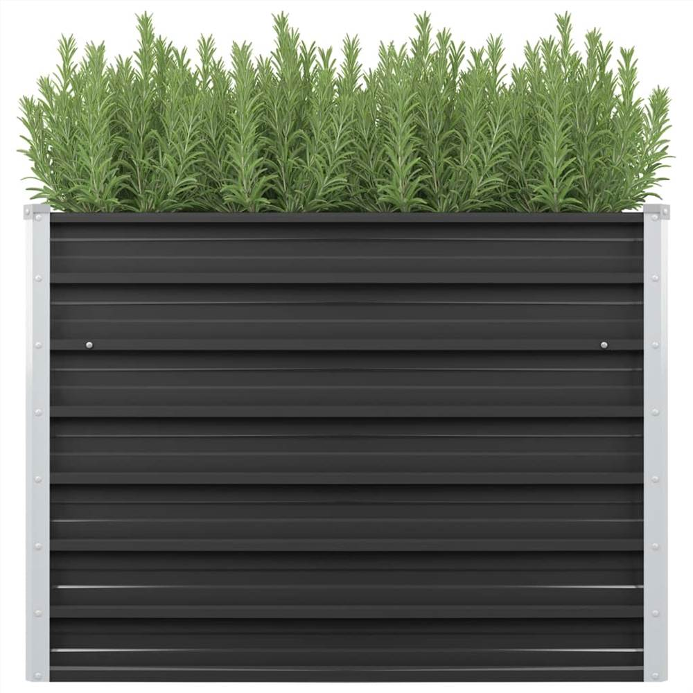 ガーデンレイズドベッド無煙炭100x40x77cm亜鉛メッキ鋼
