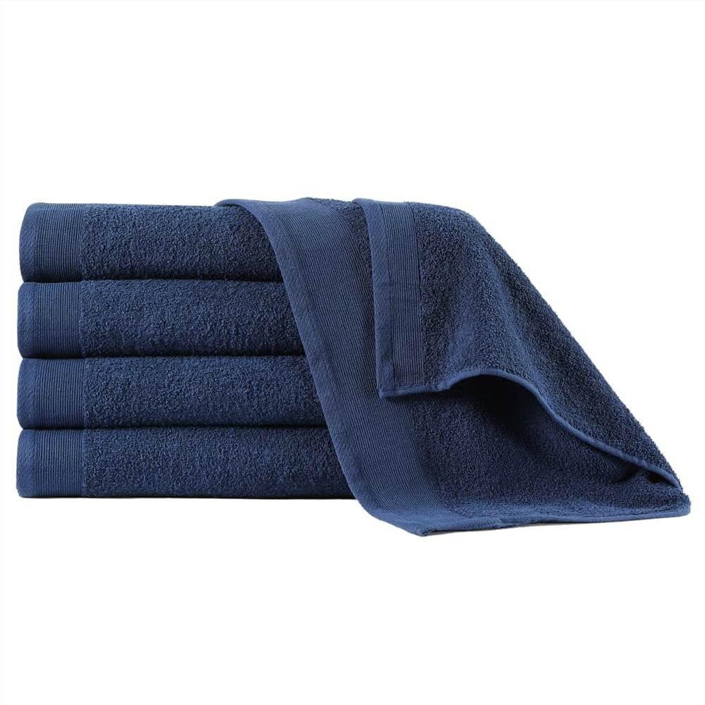 Hand Towels 5 pcs Cotton 450 gsm 50x100 cm Navy