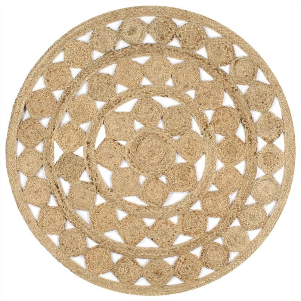 Handgemachte Teppich geflochtene Jute 120 cm