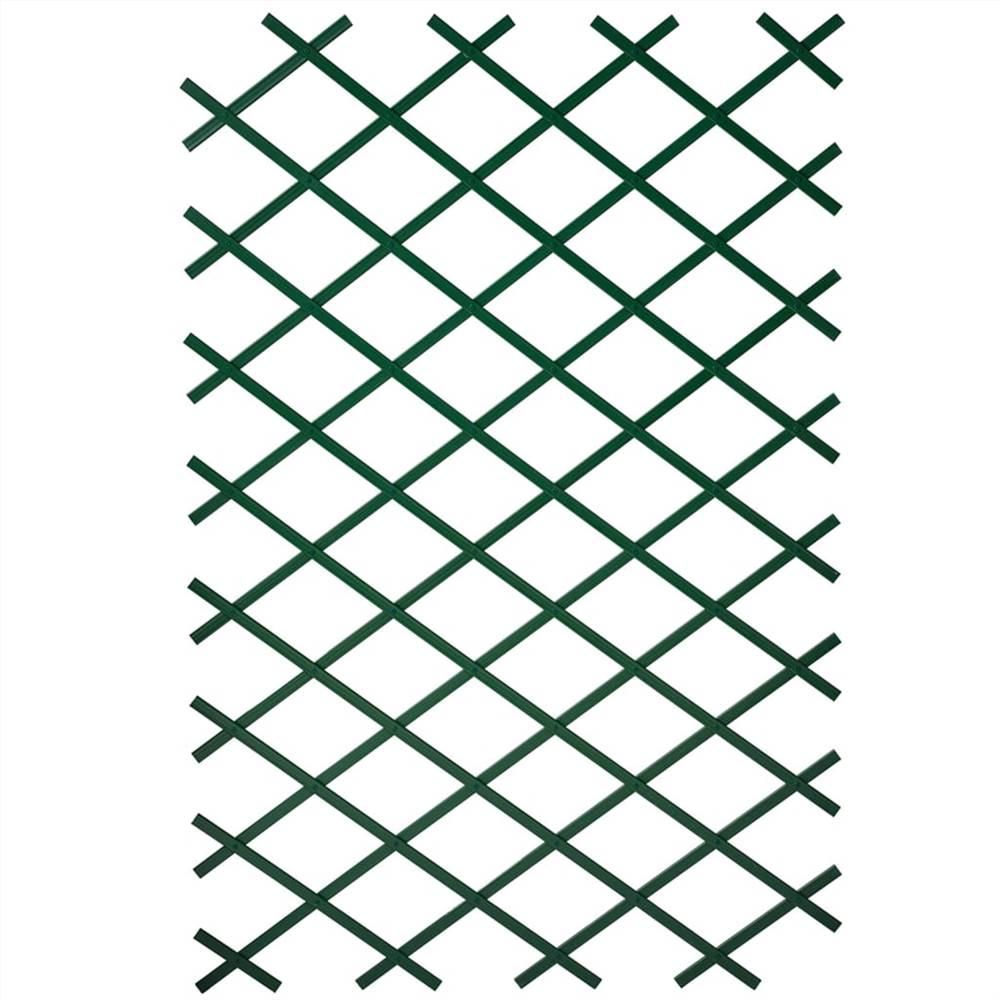 Nature 2 pces Treillis de jardin 100x200 cm PVC Vert