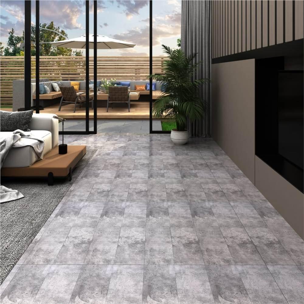 PVC-Dielen 5,02 m² 2 mm selbstklebend Zementbraun