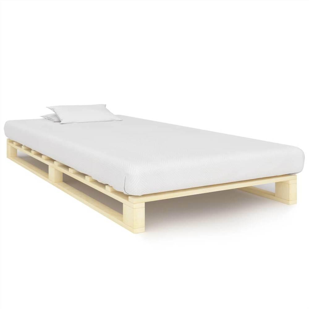 Pallet Bed Frame Solid Pine Wood 90x200 cm