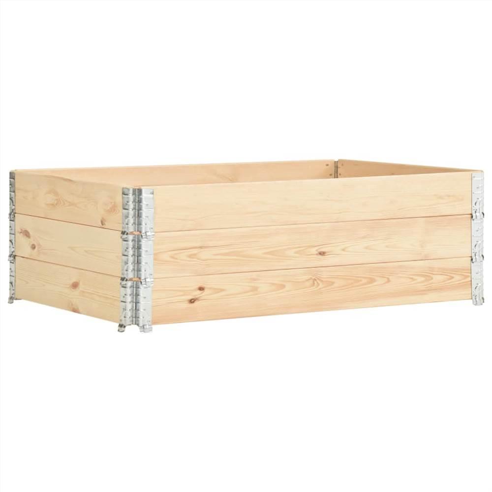 Pallet Collars 3 pcs 50x150 cm Solid Pine Wood