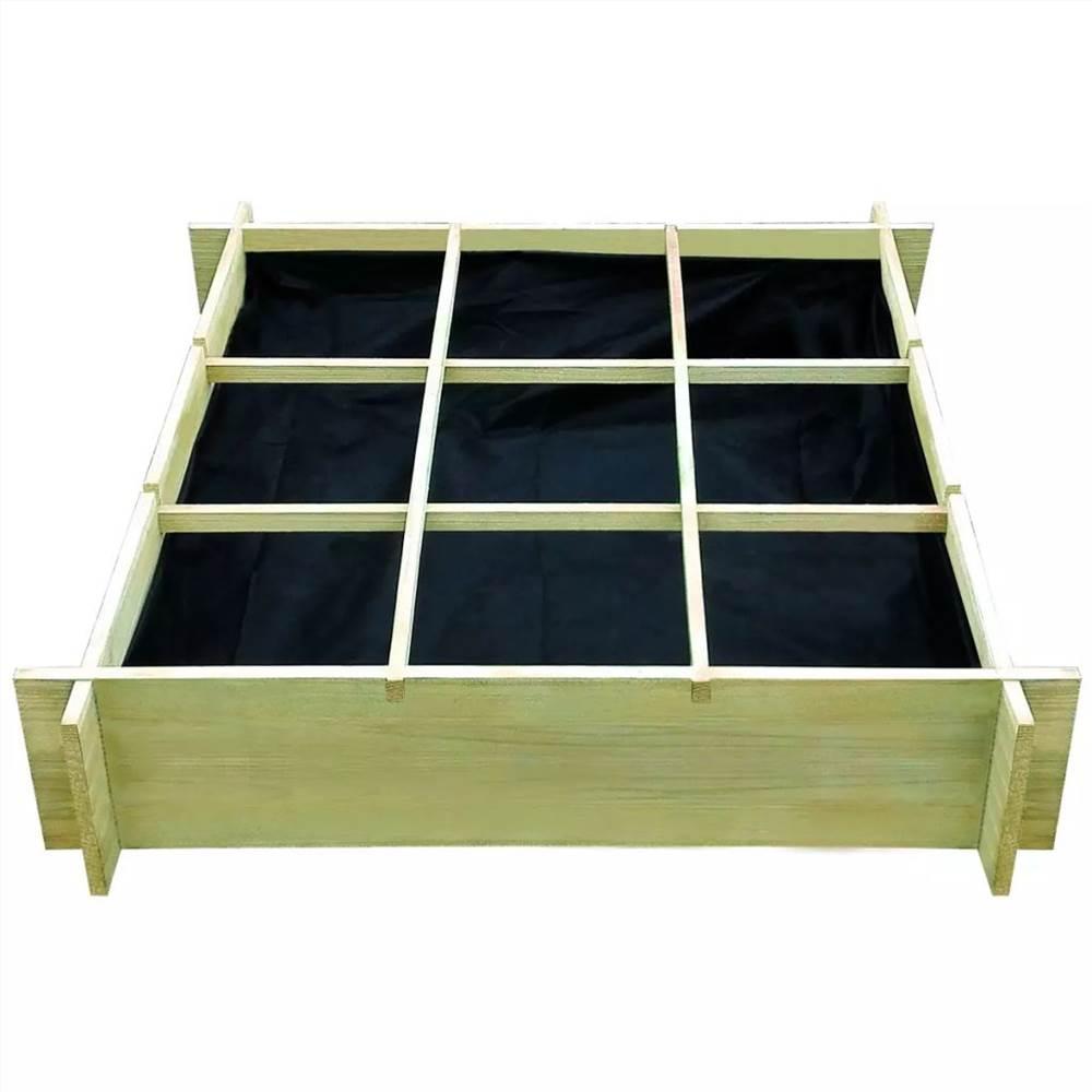 レイズドベッド90x90x20cm含浸木材