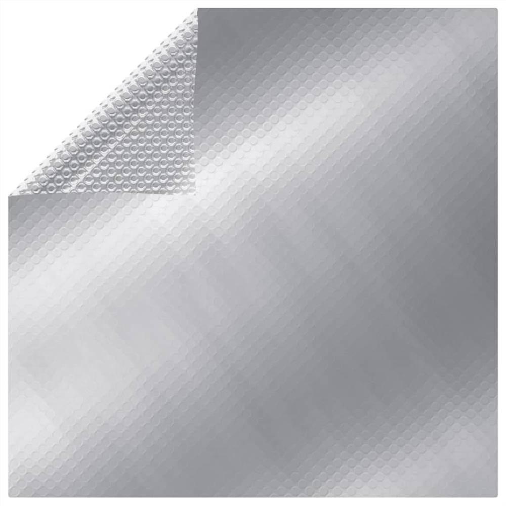 Rectangular Pool Cover 800x500 cm PE Silver