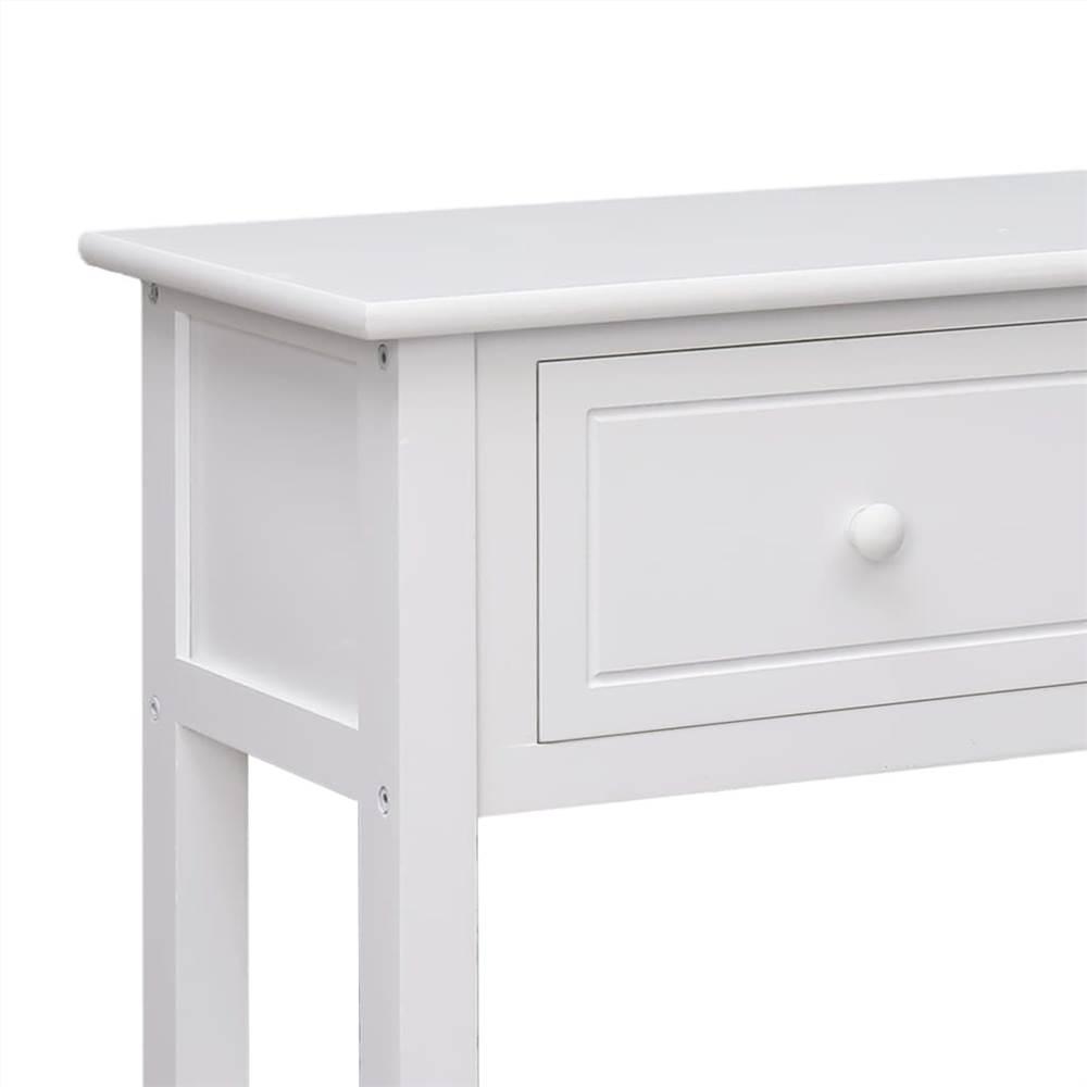 Sideboard White 115x30x76 cm Wood
