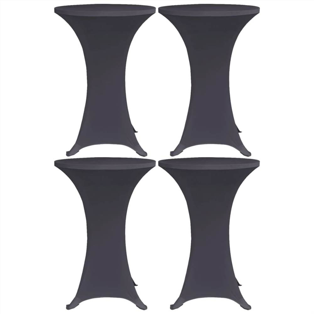 Stretch Table Cover 4 pcs 80 cm Anthracite