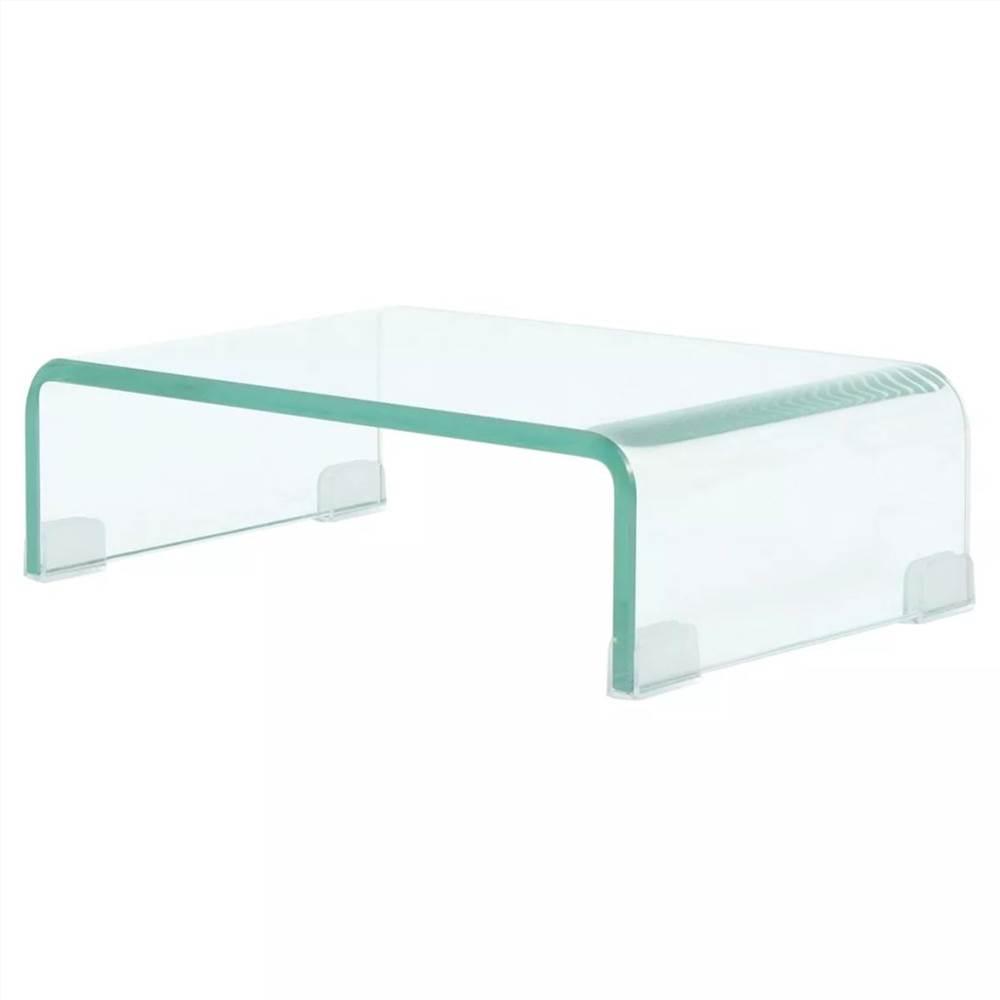 TV-Ständer / Monitor Riser Glas klar 40x25x11 cm