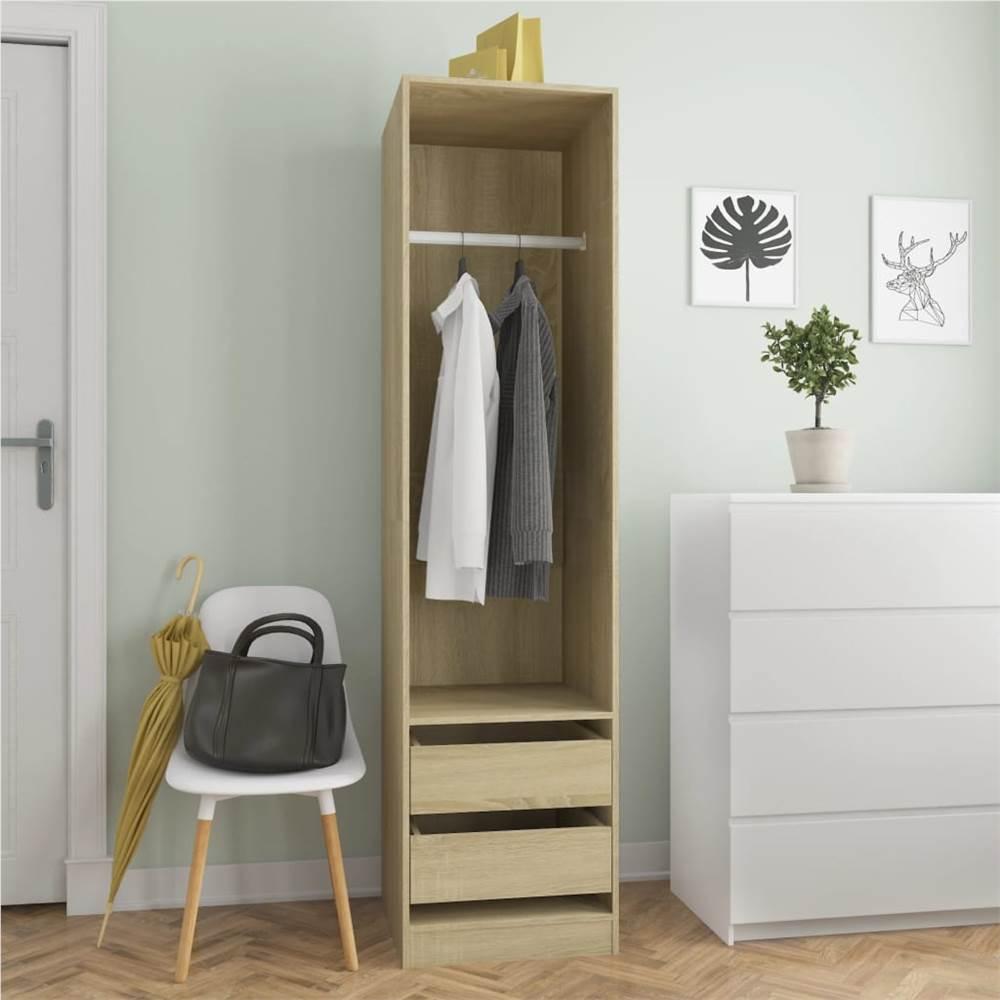 Wardrobe with Drawers Sonoma Oak 50x50x200 cm Chipboard