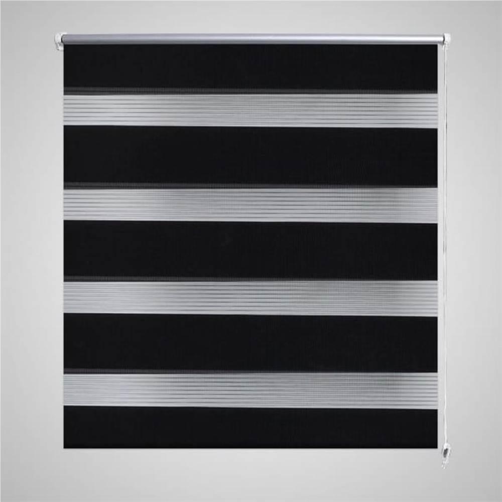 Zebra Rollo 80 x 150 cm Schwarz