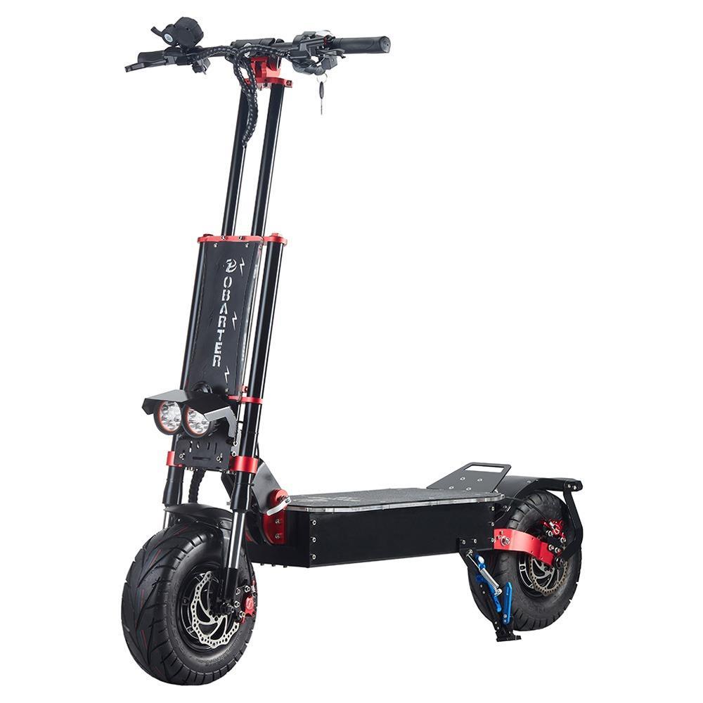 OBARTER X5 Складной электрический спортивный скутер 13 дюймов Внедорожная шина 2800 Вт x2 Бесщеточный двигатель 60 В 30 Ач Аккумулятор BMS 3 режима скорости Масляный дисковый тормоз Макс.скорость 85 км / ч Светодиодный дисплей 65–75 км на дальность - черный