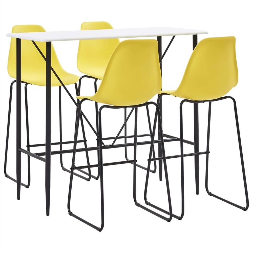 Ensemble de 5 barres en plastique jaune