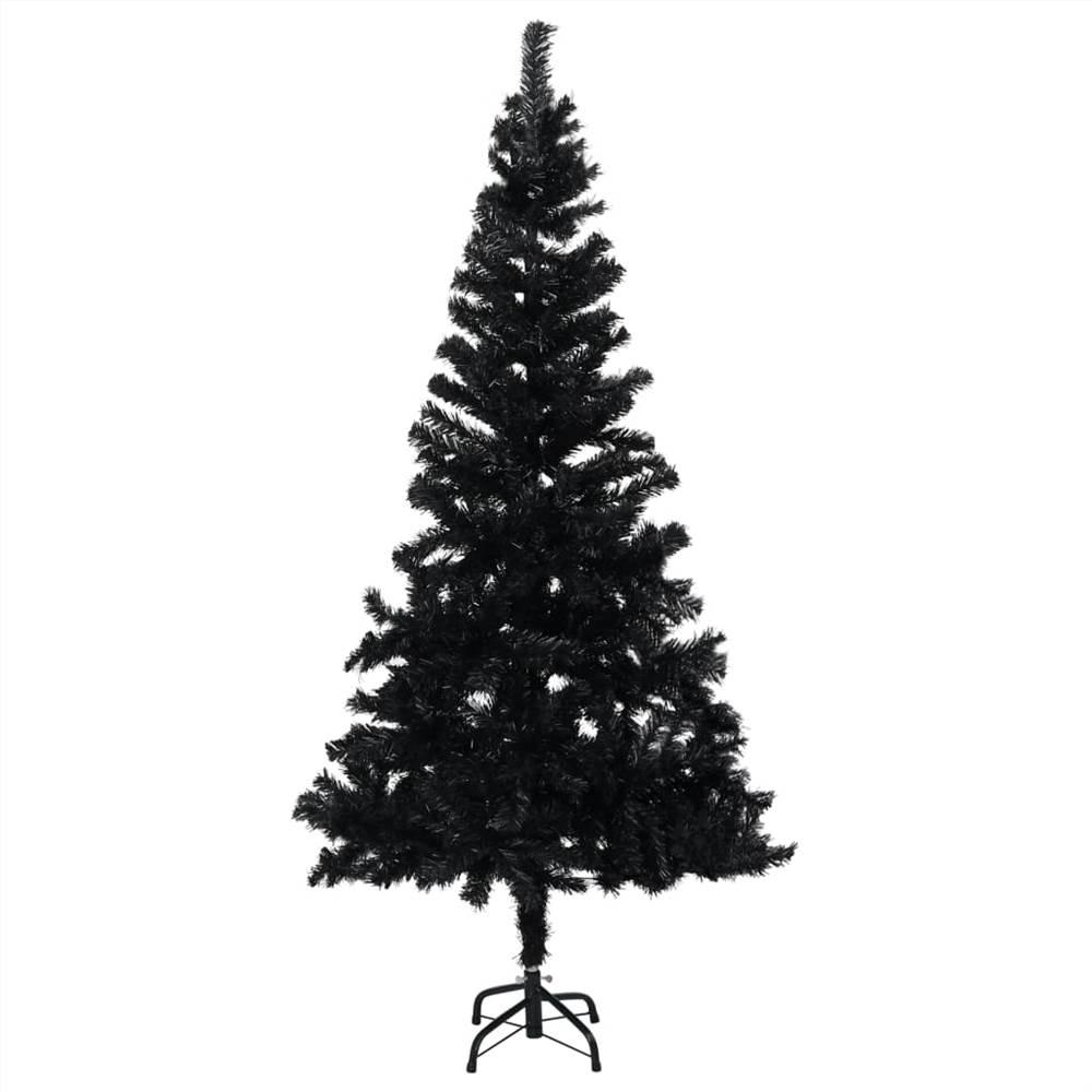 Sapin de Noël artificiel avec support noir 150 cm PVC