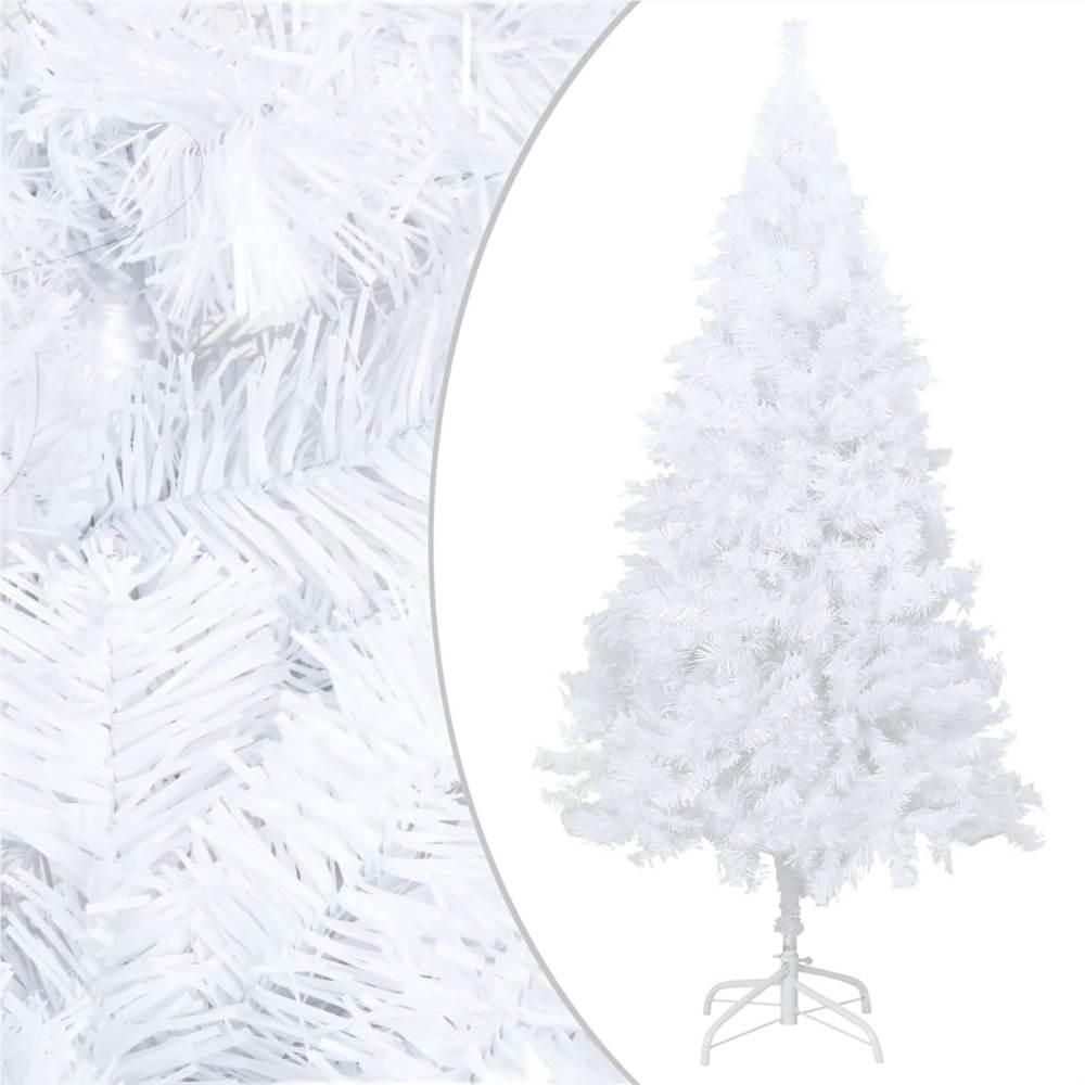 Sapin de Noël artificiel à branches épaisses blanc 150 cm PVC