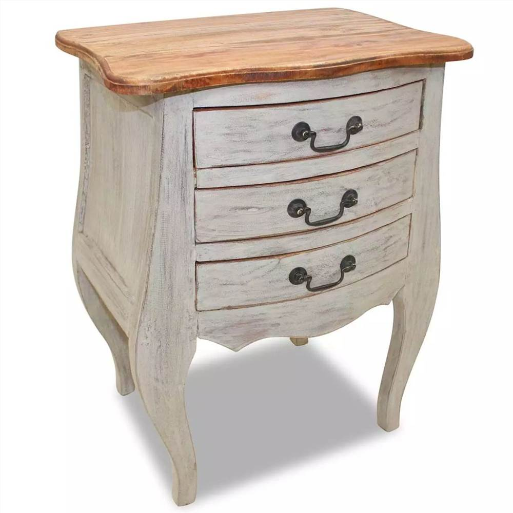 Bedside Cabinet Solid Reclaimed Wood 48x35x64 cm