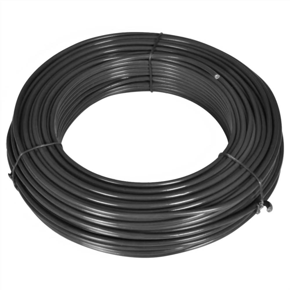 Fence Line Wire 80 m 2.1/3.1 mm Steel Grey