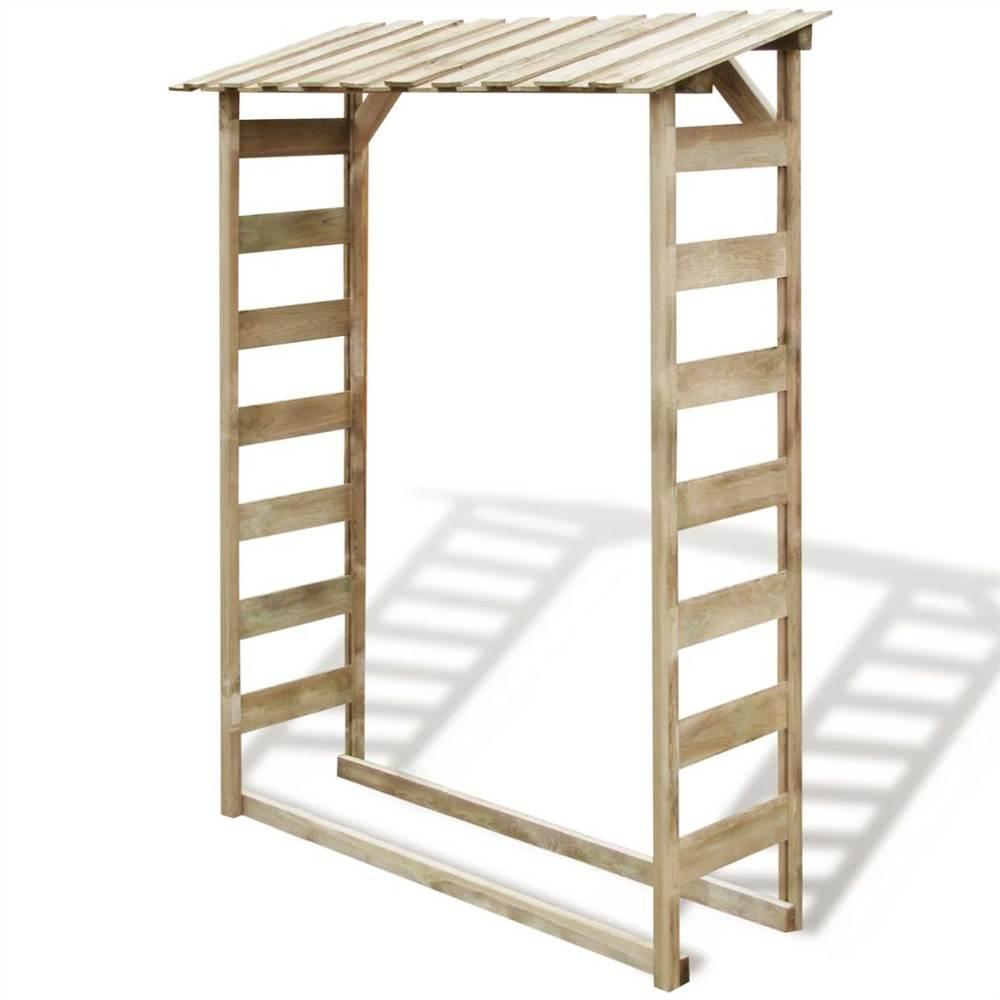 Firewood Storage Shed 150x44x176 cm Impregnated Pinewood
