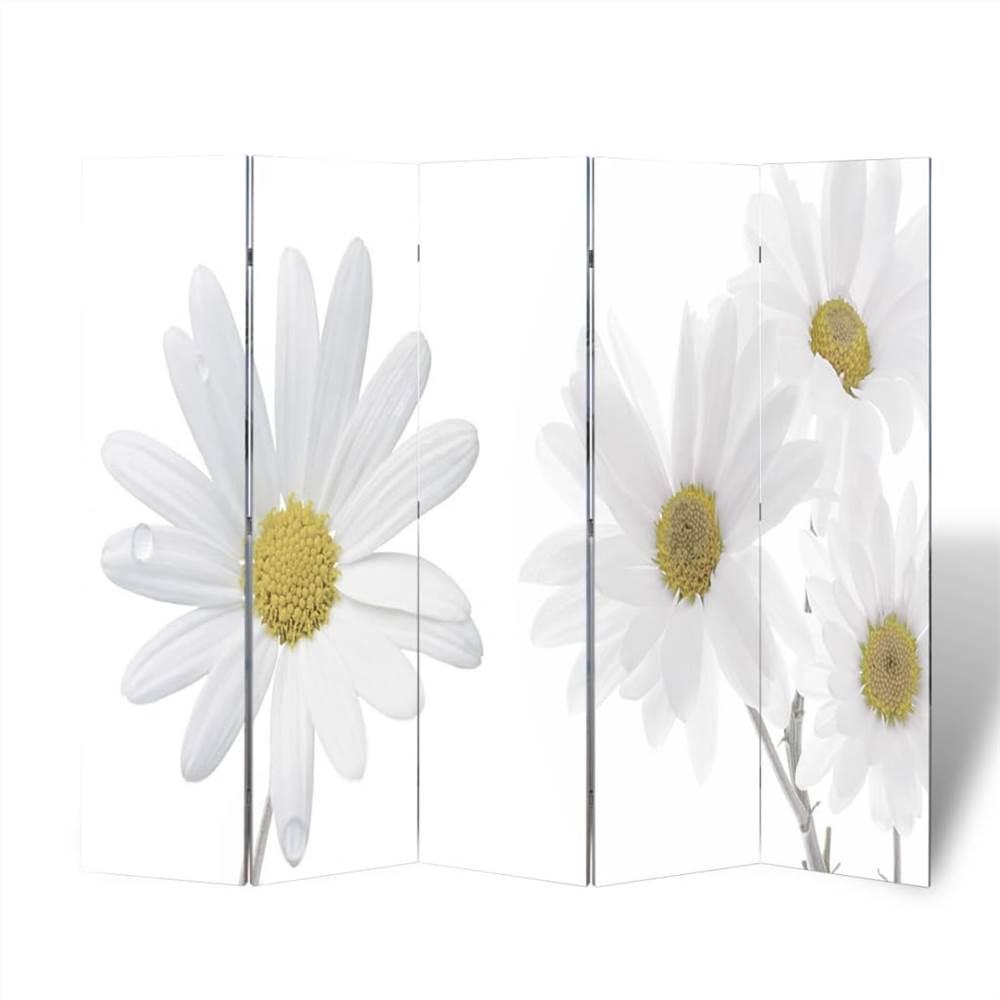 Cloison pliante 200x170 cm Fleur