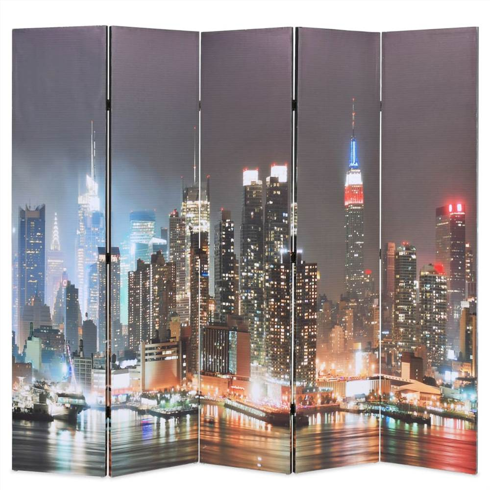 Cloison pliante 200x170 cm New York by Night