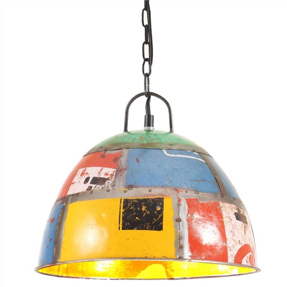 Винтажный промышленный подвесной светильник 25 W Multicolour Round 31cm E27