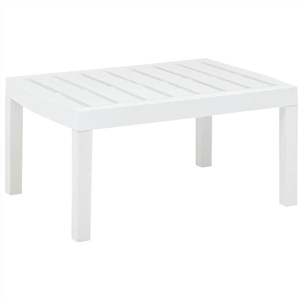 Lounge Table White 78x55x38 cm Plastic