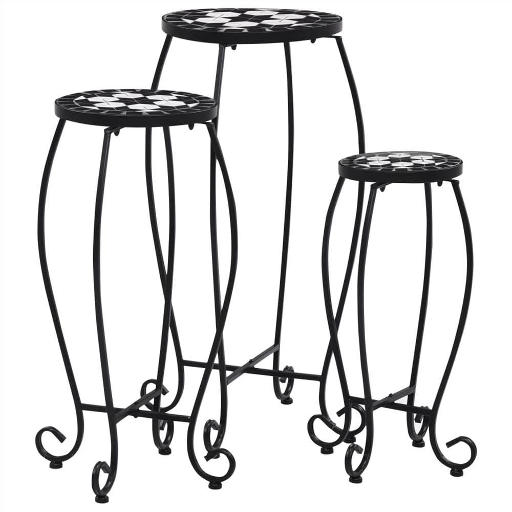 Столы для мозаики 3 шт. Черно-белая керамика