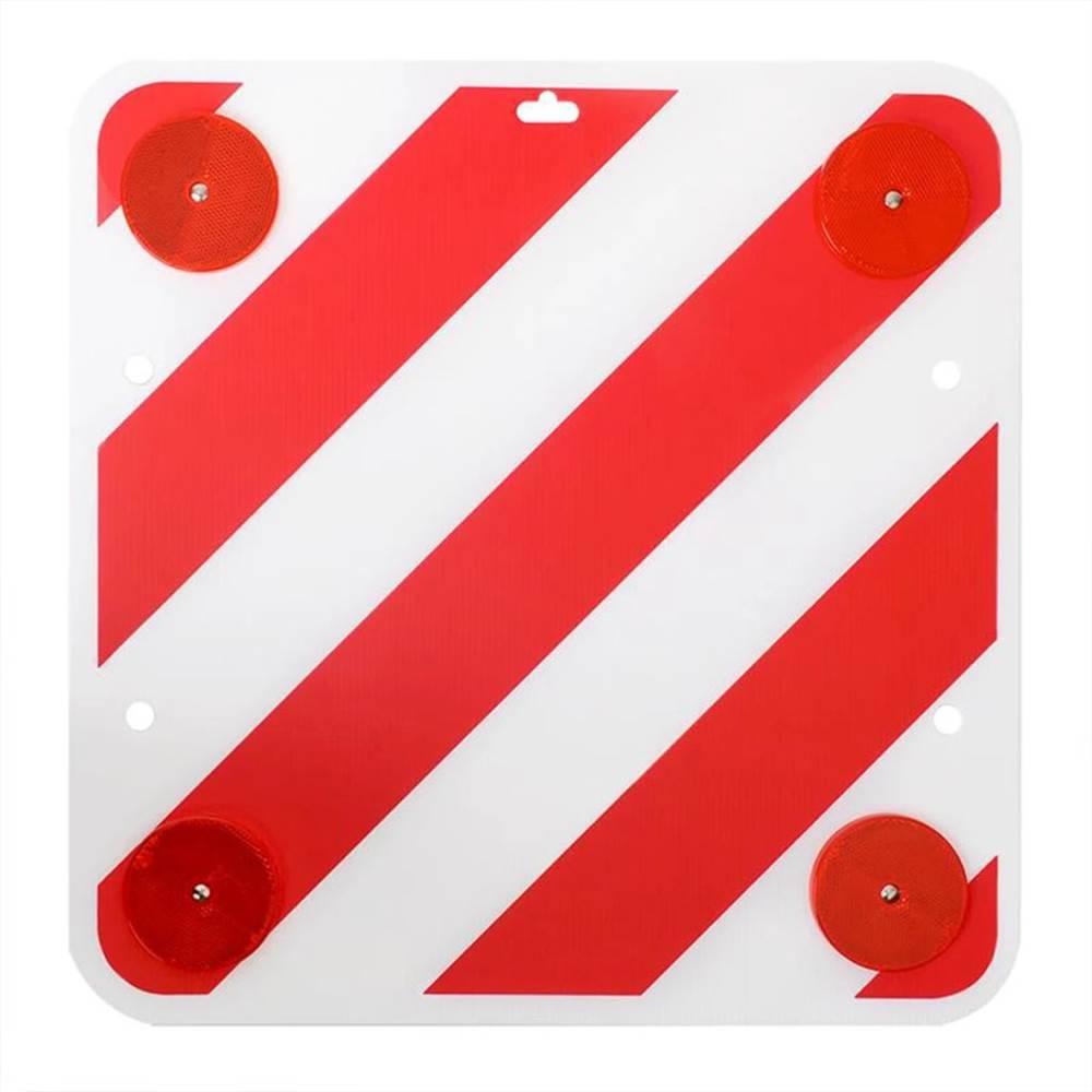 Panneau d'avertissement arrière ProPlus en plastique 50 x 50 cm avec réflecteurs 361228