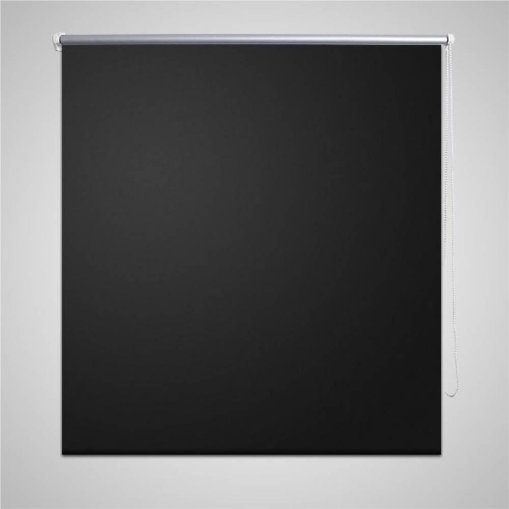 Tenda a rullo oscurante 120 x 175 cm nera