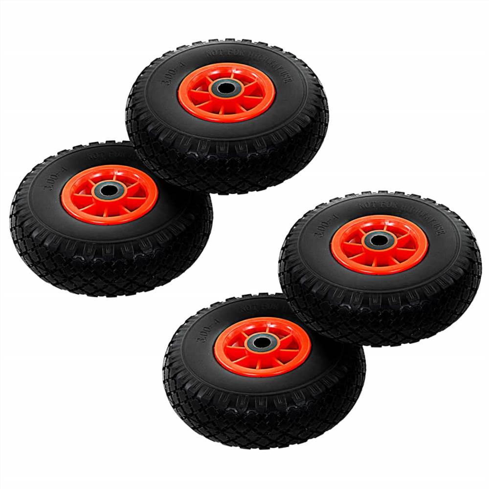 Roues de camion de sac 4 pièces PU solide 3.00-4 (260x85)