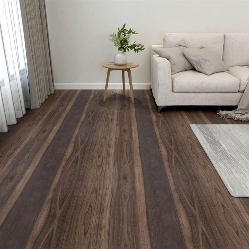 Self-adhesive Flooring Planks 55 pcs PVC 5.11 m² Dark Brown
