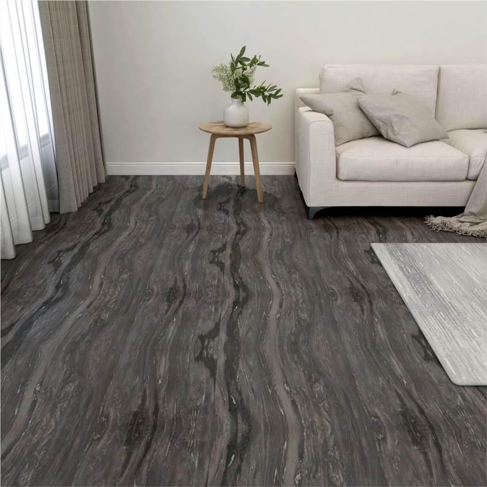 Self-adhesive Flooring Planks 55 pcs PVC 5.11 m² Dark Grey