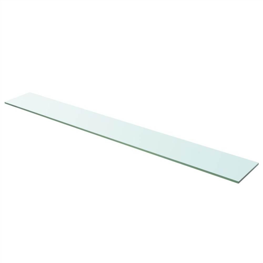 Panneau d'étagère en verre clair 110x15 cm