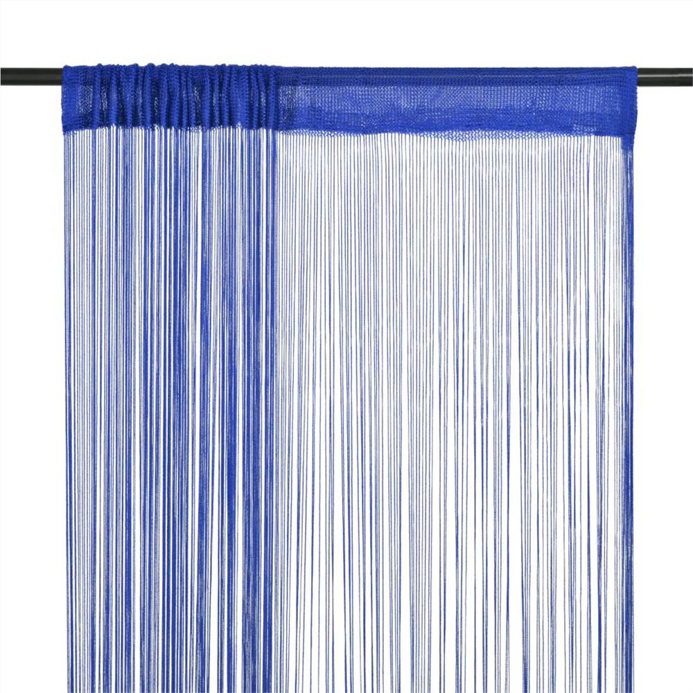 Tende a fili 2 pz 100x250 cm Blu