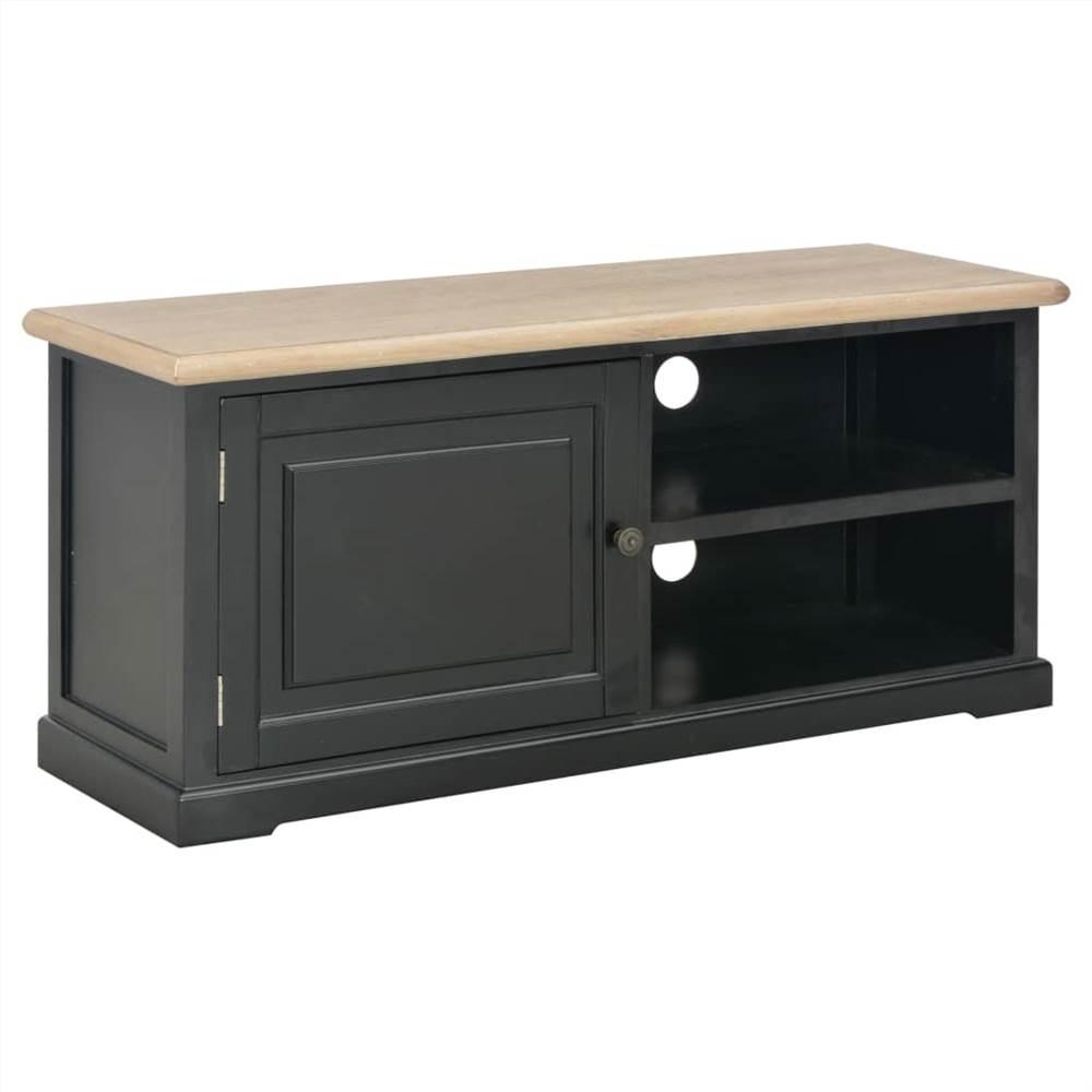 TV Cabinet Black 90x30x40 cm Wood