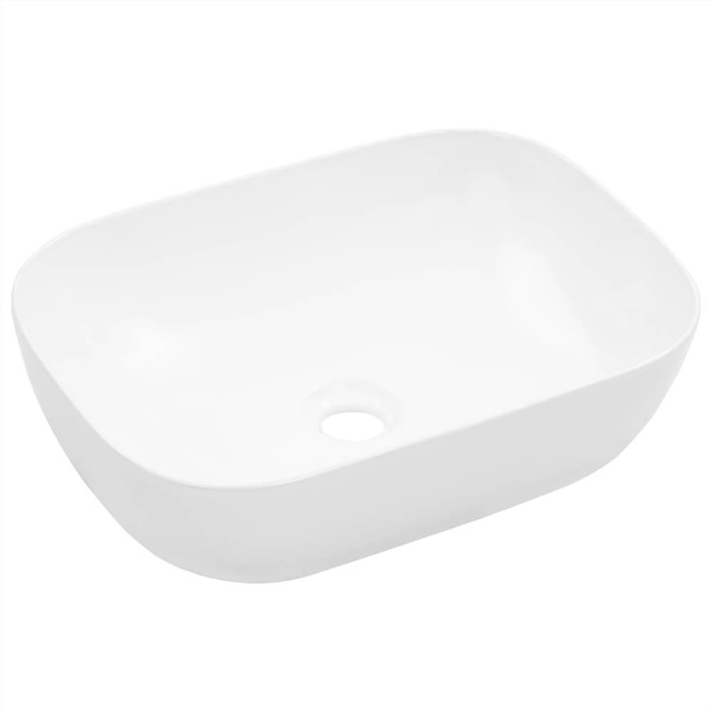 Lavabo 45.5x32x13 cm Céramique Blanc