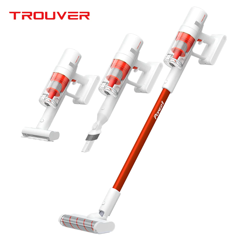 Dreame TROUVER POWER 11 Aspirateur sans fil portable Moteur 400W 120AW 20000Pa Aspiration forte Batterie 2500 mAh Durée de fonctionnement 60 minutes Écran LCD Coupe-poussière amovible - Blanc
