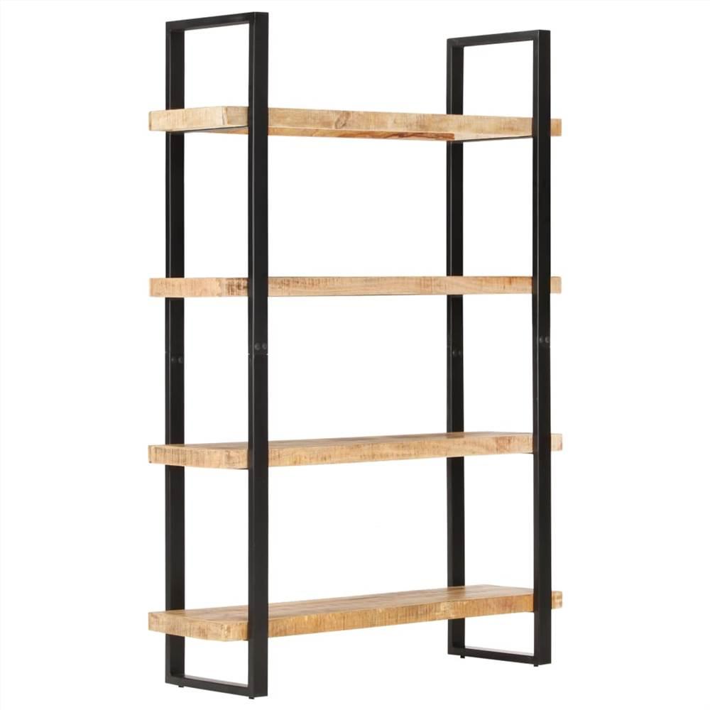 4-stufiges Bücherregal 120x40x180 cm Raues Mangoholz