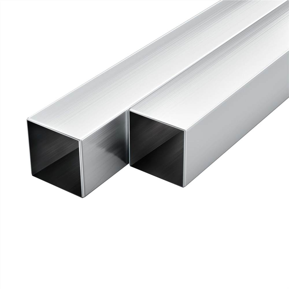 6 pcs Aluminium Tubes Square Box Section 1m 30x30x2mm