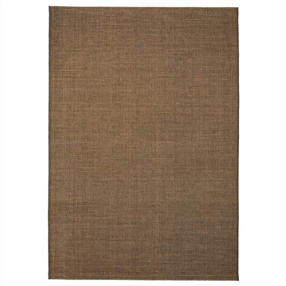 Area Rug Sisal Look Indoor/Outdoor 80x150 cm Brown
