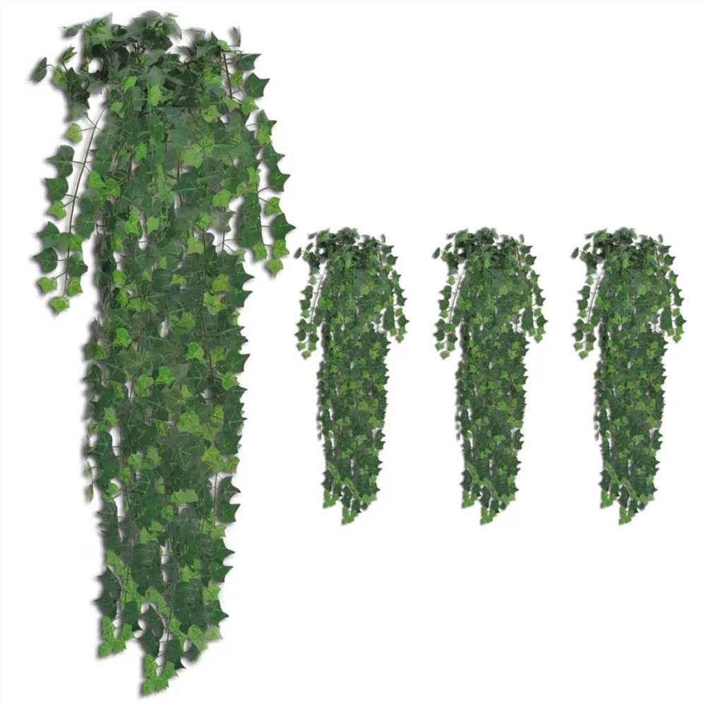 Buissons de lierre artificiels 4 pcs Vert 90 cm