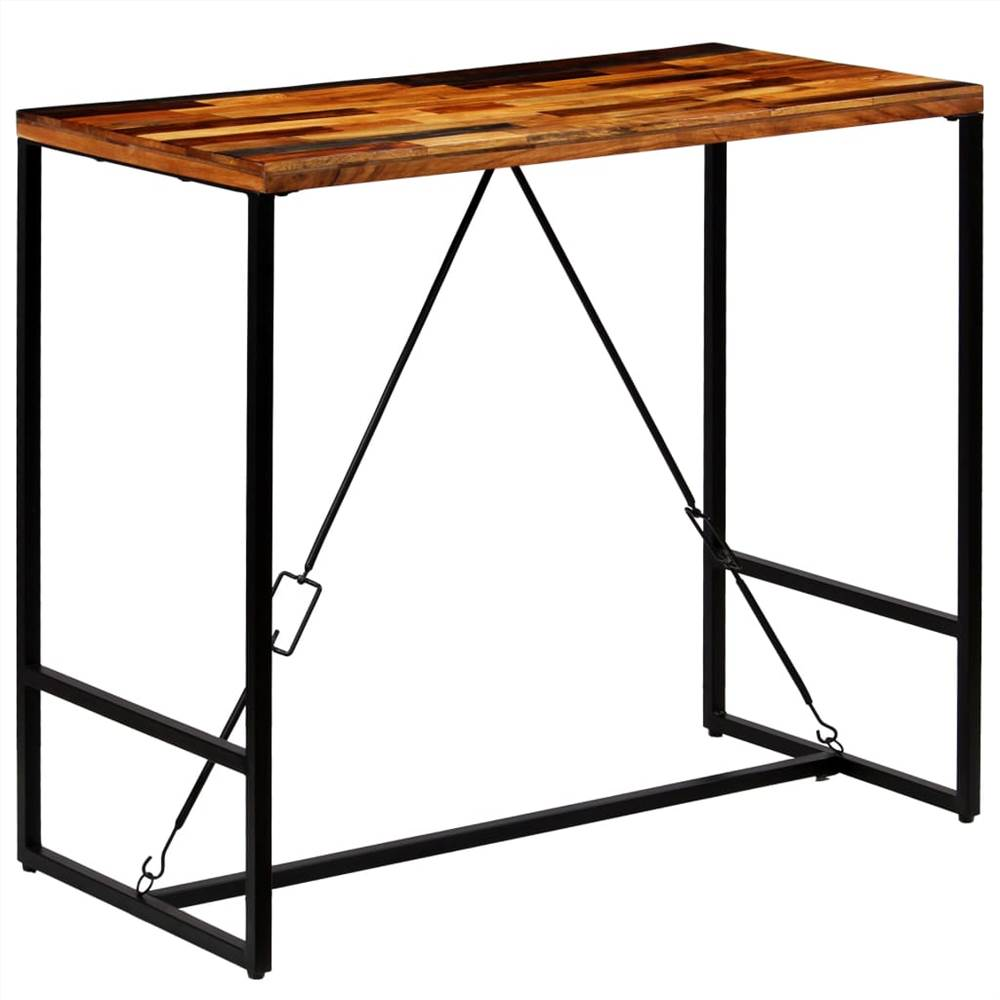 Bar Table Solid Reclaimed Wood 120x60x106 cm
