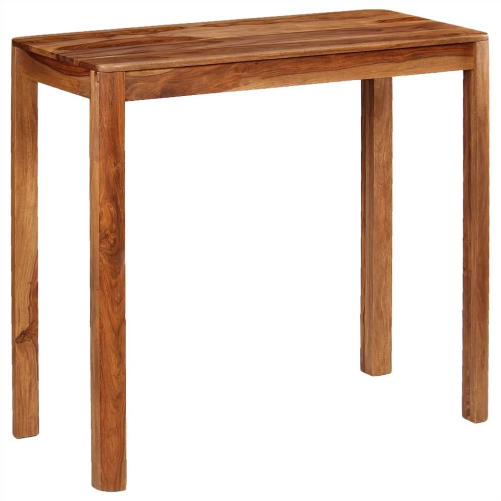 Bar Table Solid Sheesham Wood 115x55x107 cm