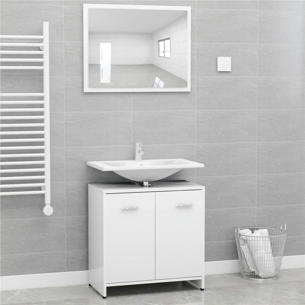 Ensemble de meubles de salle de bain en aggloméré blanc