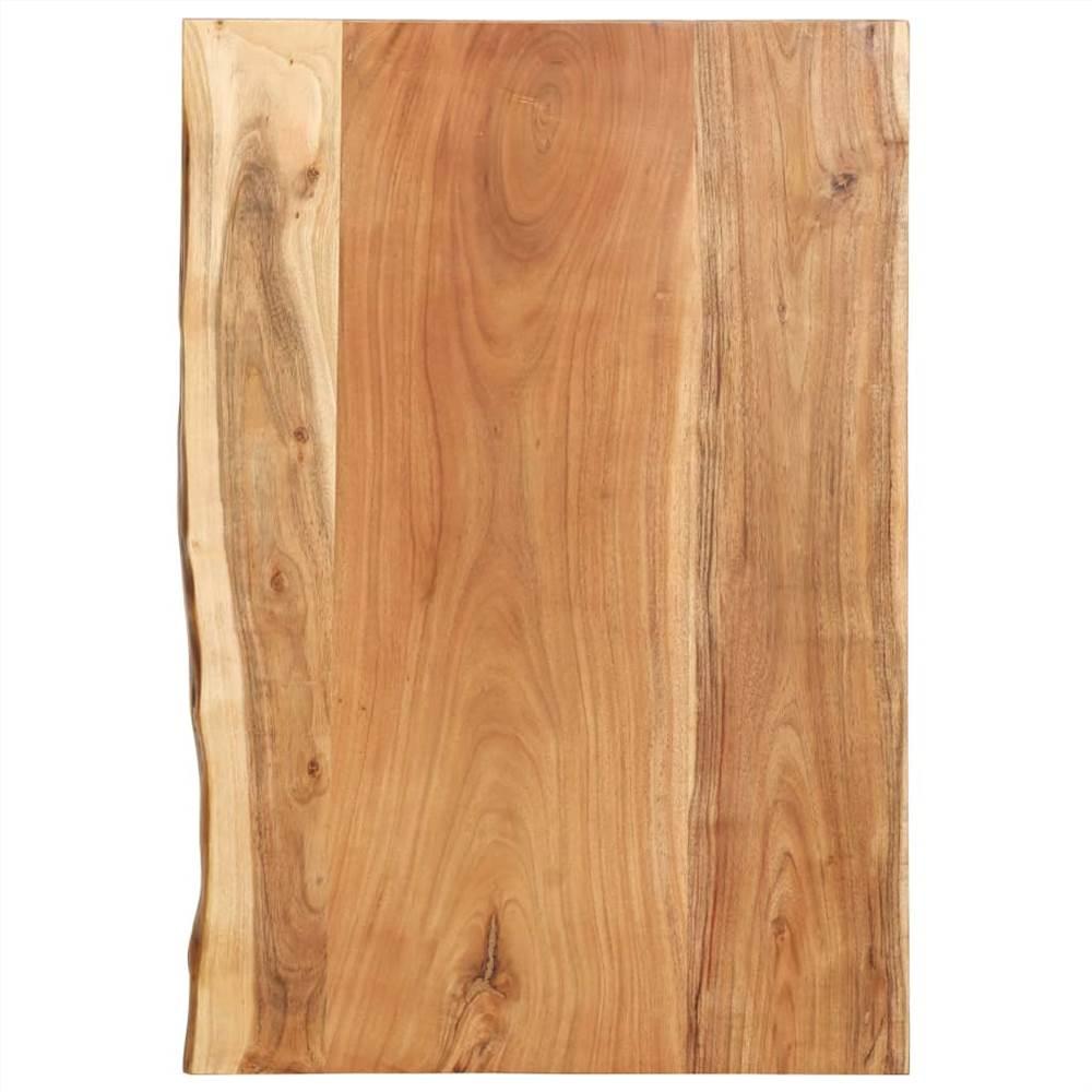 Dessus de meuble de salle de bain en bois d'acacia massif 80x55x3.8 cm