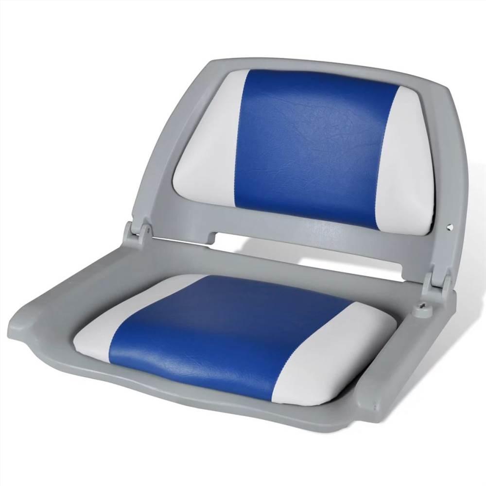 青白枕付きボートシート折りたたみ式背もたれ41x 51 x 48 cm