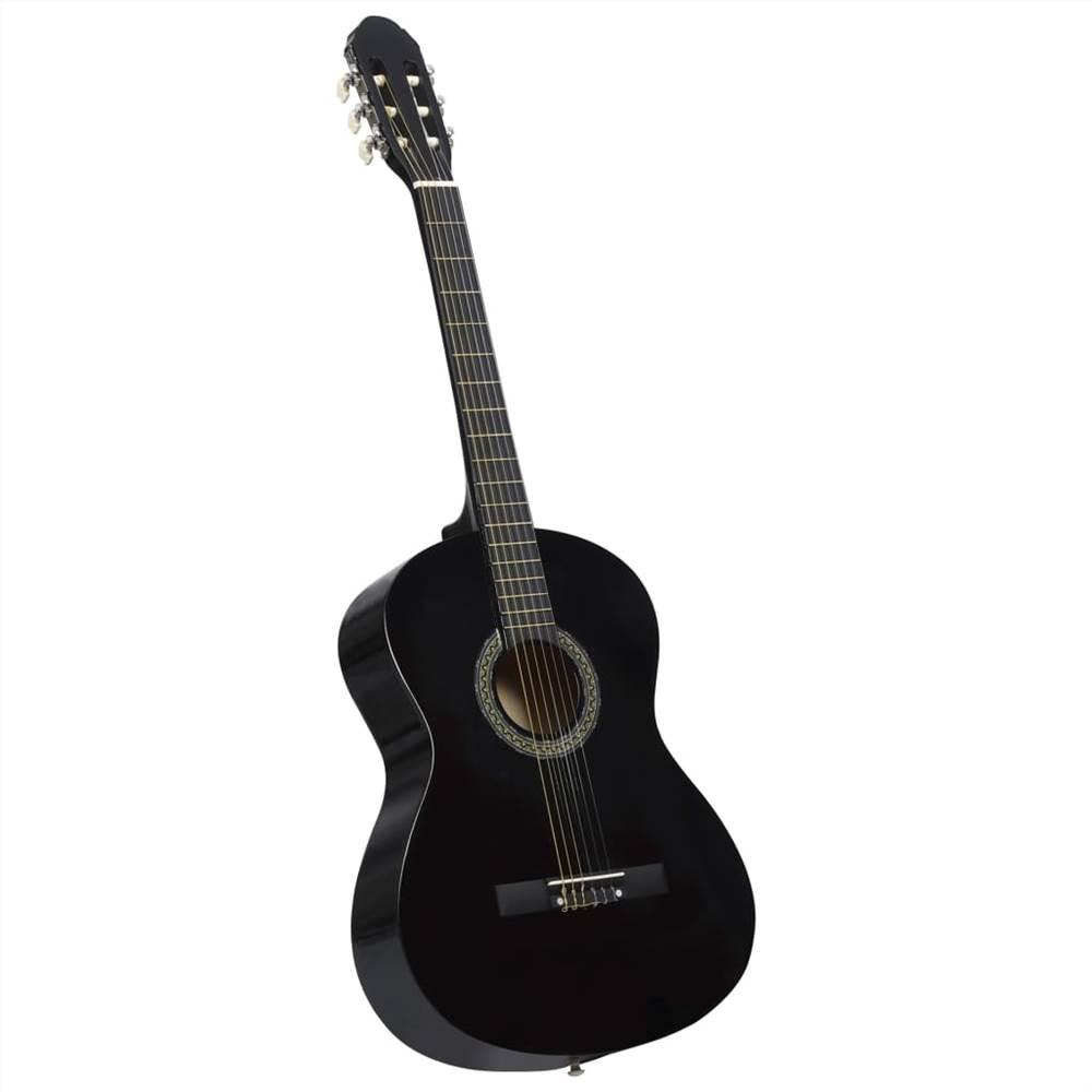 """Klasszikus gitár kezdő fekete 4/4 39 """"basszusfa"""