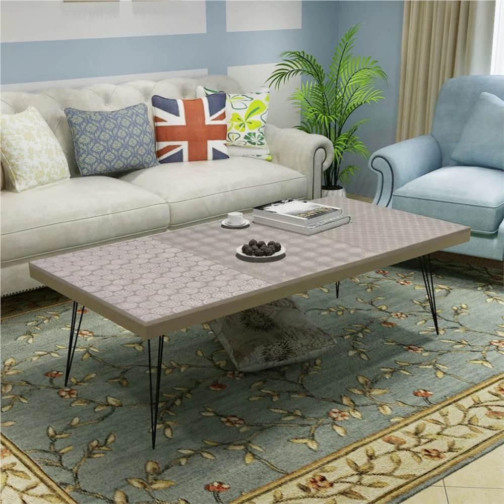 Coffee Table 120x60x38 cm Grey