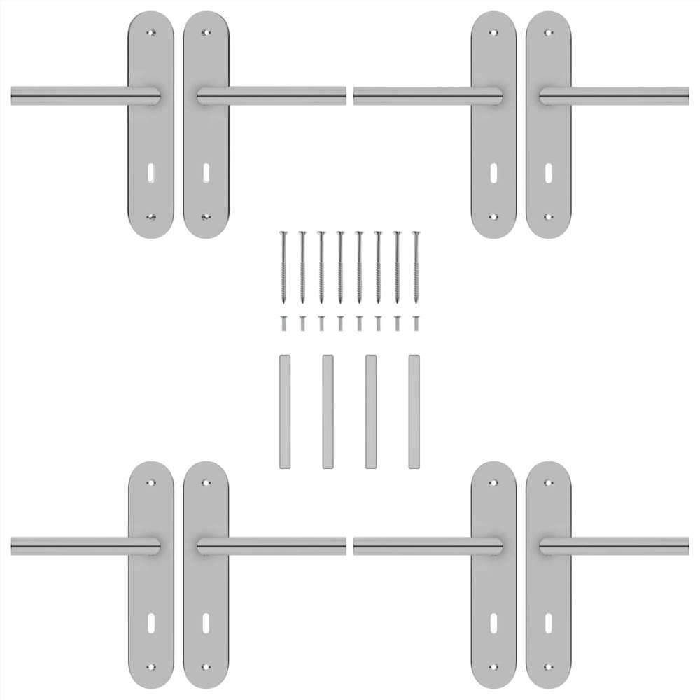 Maniglie per porte 2 set con BB Deadlock in acciaio inossidabile