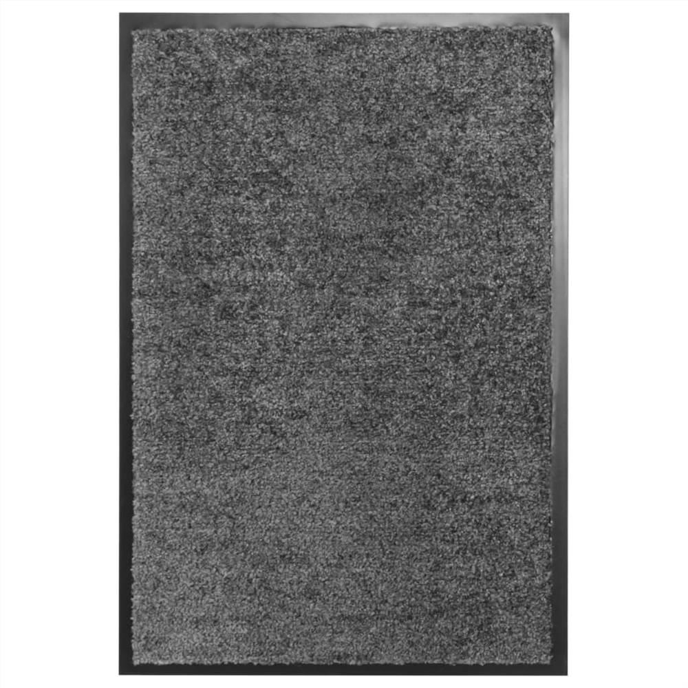 Paillasson Lavable Anthracite 40x60 cm