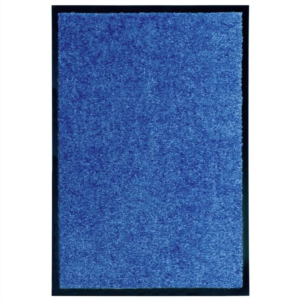 Paillasson Lavable Bleu 40x60 cm